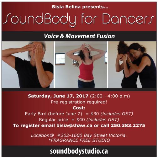 SoundBody for Dancers Workshop June 17
